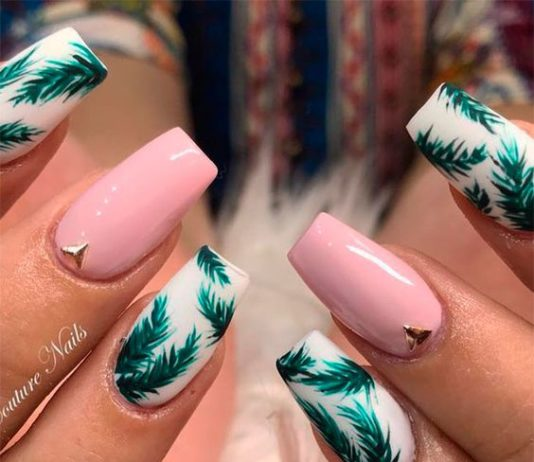 summer nails palm trees