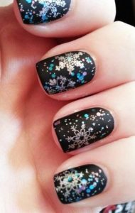 black blizzard nails