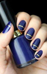 Navy Blue nails