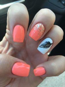coral nails