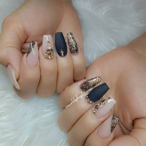 easy coffin nails ideas