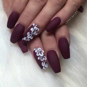 dark coffin nails