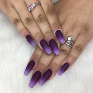 ombre coffin nails