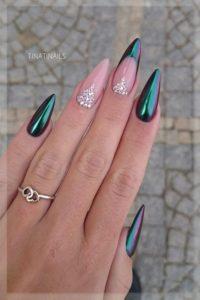 mermaid diamond nails