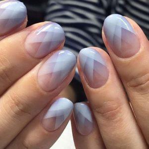 geometric diamond nails