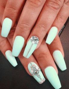 mint diamond nails