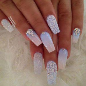 crystal diamond nails