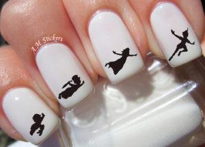 peter pan nail art