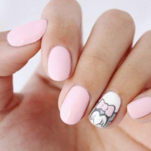 minnie pastel nail art