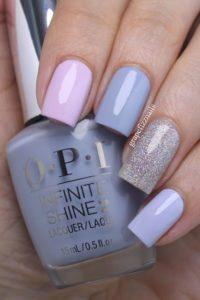 blue pastel nail art