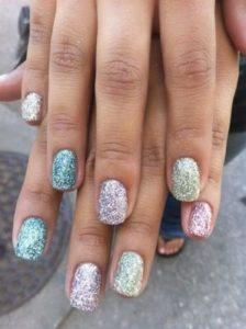 glitter pastel nail art