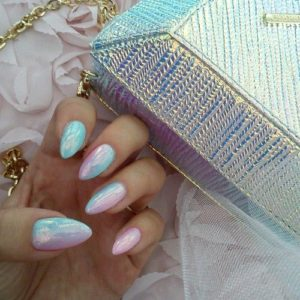 unicorn inspired manicure