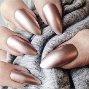 matte metallic manicure