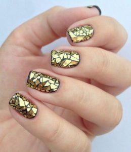 broken mirror nails