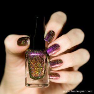 reflective gold nails