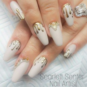 dripping gold nails