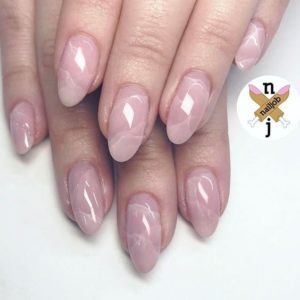 marble nude nails