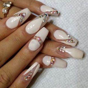 crystal nude nails