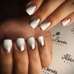 ombré silver nails