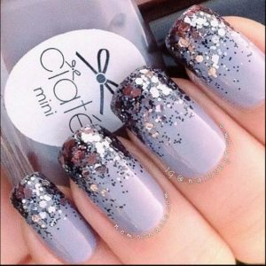 lavender silver nails
