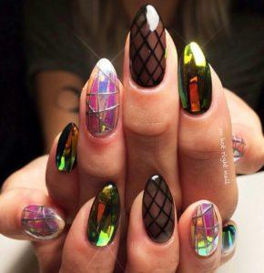 chrome nails mix n match