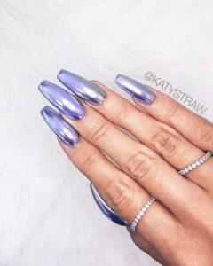 chrome nails pastel