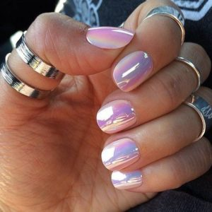 chrome nails shell