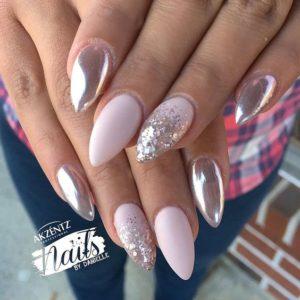 chrome nails silver pop