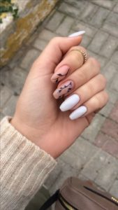 floral coffin nails