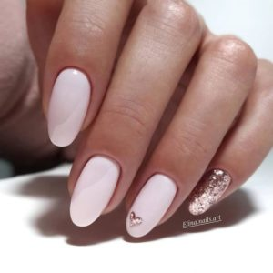gold pink nail art and design