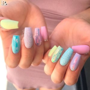 Pastel Nails 35 Creative Pastel Nail Art Designs