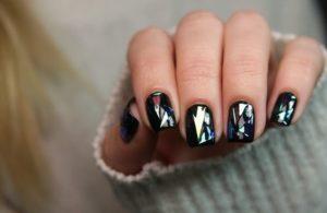 glass gel nail designgs