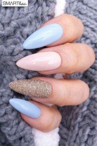 pastel almond Gel Nails