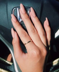 Nude Pointy Stiletto Nails