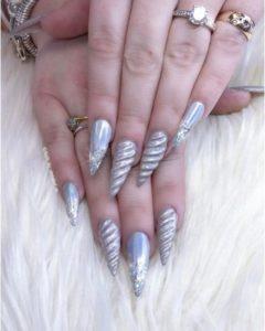 Unicorn Horn Pointy Stiletto Nails