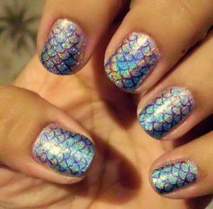 Mermaid Nail Stamping
