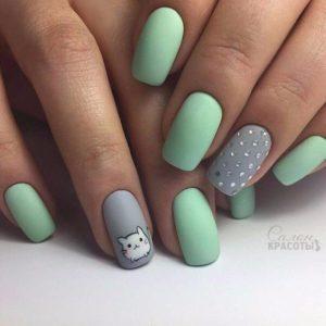 cute anime nails
