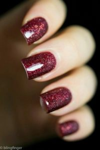 Burgundy Glitter Polish