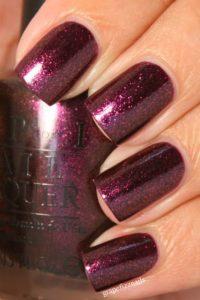 Burgundy Nails with a Purple Hue