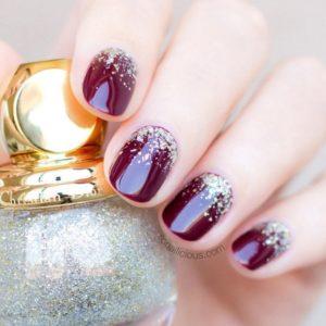 cute Burgundy Nails