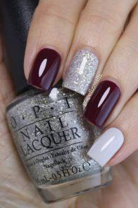 burgundy skittle nails