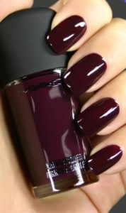 dark burgundy wine nails