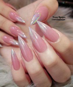 glitter Stiletto nails