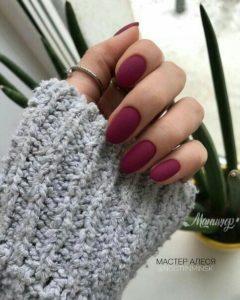 matt burgundy nails