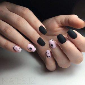 lack pink nails