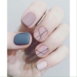 nude Monochrome Nails