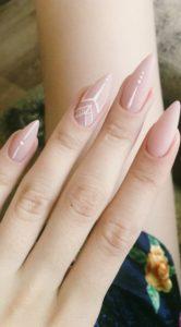 white nude nail designs