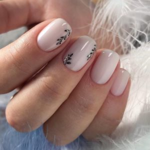 white beige nails