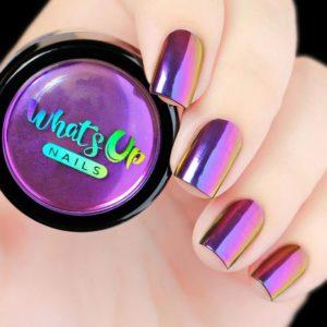 Chrome Effect Purple Nails