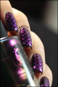 Purple Mermaid Nails